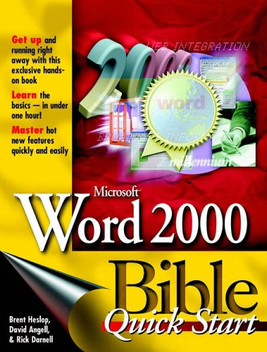 Microsoft Word 2000 Bible [With *] 9780764532818