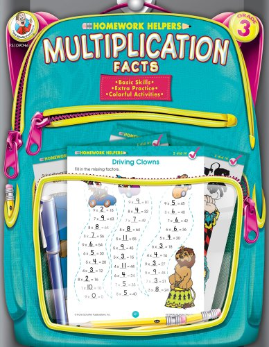 Multiplication Facts, Homework Helpers, Grade 3 9780768207170