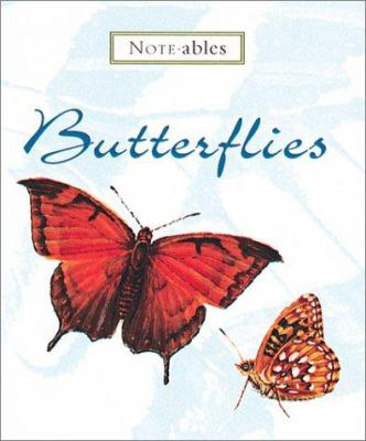 Noteables Butterflies [With Envelopes and Black-And-Gold Enamel Pen and Handcrafted Double Frame and 6 Notecards] 9780762406784