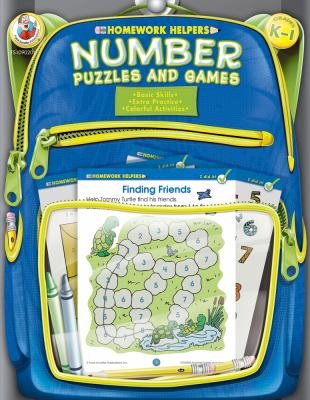 Number Puzzles and Games, Homework Helpers, Grades K-1 9780768206913