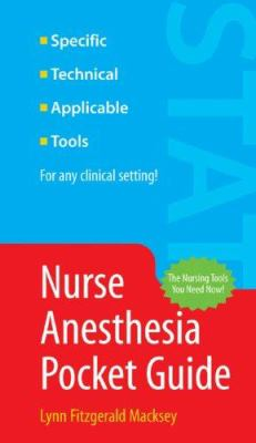 Nurse Anesthesia Pocket Guide 9780763746476
