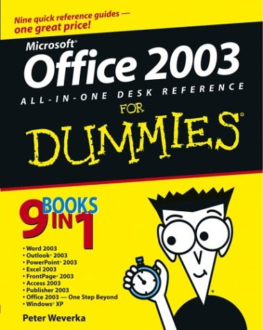 Office 2003 All-In-One Desk Reference for Dummies 9780764538834