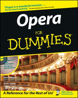 Opera for Dummies 9780764550102