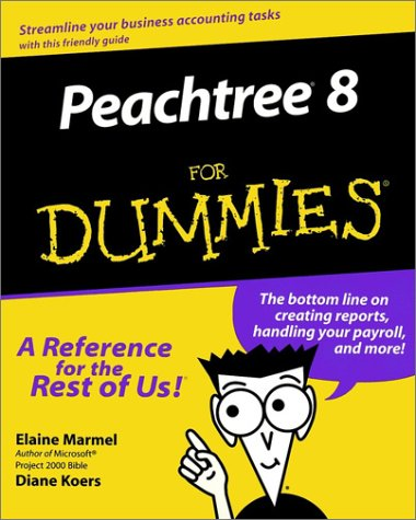 Peachtree 8 for Dummies 9780764506406