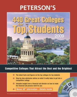 Peterson's 440 Great Colleges for Top Students [With Paying for College CD] 9780768925425