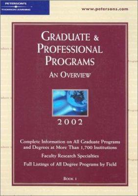 Peterson's Graduate & Professional Programs: An Overview 9780768905366