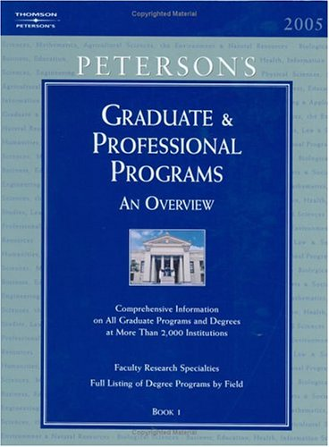 Peterson's Graduate & Professional Programs: An Overview