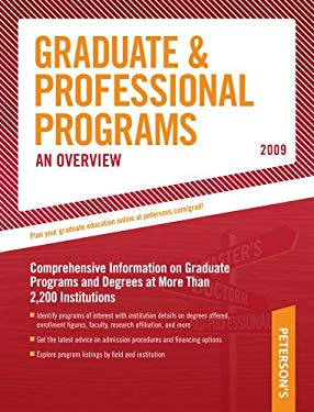 Peterson's Graduate & Professional Programs: An Overview 9780768925616