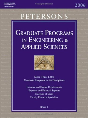 Peterson's Graduate Programs in Engineering & Applied Sciences 9780768917420