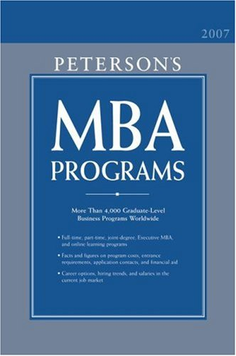 Peterson's MBA Programs 9780768921618