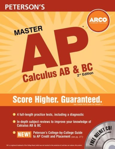 Peterson's Master AP Calculus AB & BC [With CDROM] 9780768924701