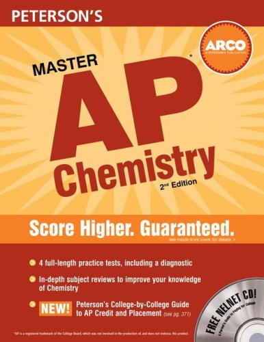 Peterson's Master AP Chemistry [With CDROM] 9780768924725