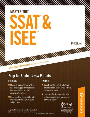 Peterson's Master the SSAT & ISEE 9780768927900