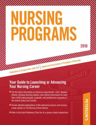 Peterson's Nursing Programs 9780768926934