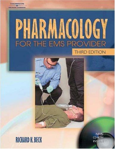Pharmacology for the EMS Provider 9780766834842