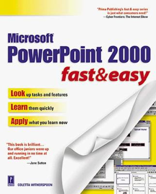 PowerPoint 2000 Fast and Easy 9780761517634