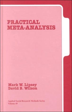 Practical Meta-Analysis 9780761921677