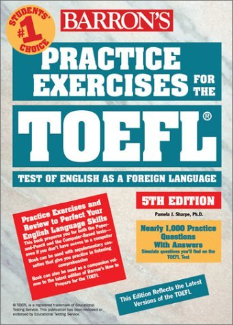 Practice Exercises for the TOEFL: Test of English as a Foreign Language 9780764120466