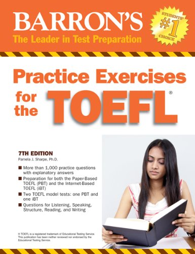 Practice Exercises for the TOEFL: Test of English as a Foreign Language 9780764145667