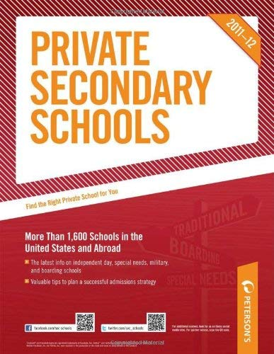 Private Secondary Schools 2011-2012 9780768933123