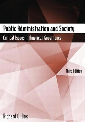 Public Administration and Society 9780765608246