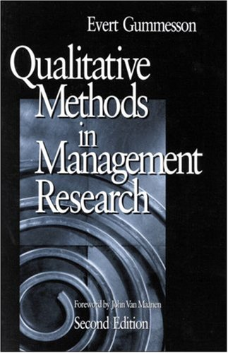 Qualitative Methods in Management Research 9780761920137