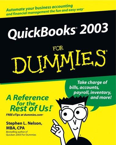 QuickBooks 2003 for Dummies 9780764519864