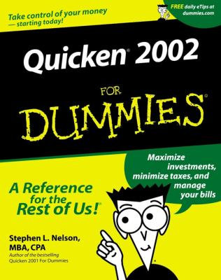 Quicken. 2002 for Dummies. 9780764508912