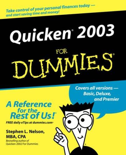 Quicken 2003 for Dummies 9780764516665