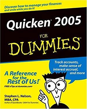 Quicken 2005 for Dummies 9780764571718