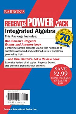 Regents Power Pack Integrated Algebra [With Paperback Book]