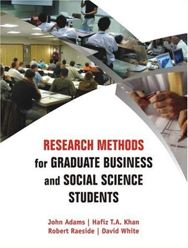 Research Methods for Graduate Business and Social Science Students 9780761935896