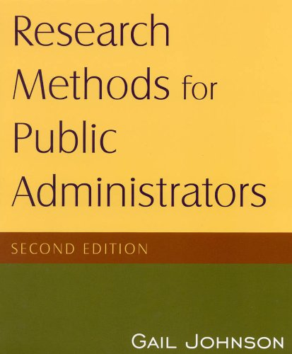 Research Methods for Public Administrators 9780765623126