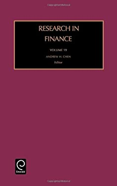 Research in Finance Rfin19 H 9780762309658