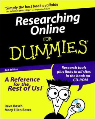 Researching Online for Dummies [With CD-ROM] 9780764505461