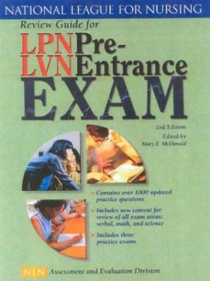 Review Guide for LPN/LVN Pre Entrance Exam, Second Edition 9780763724870