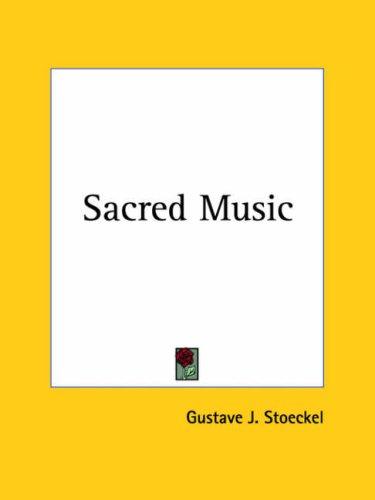 Sacred Music 9780766154780