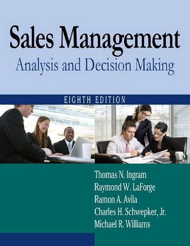 Sales Management: Analysis and Decision Making - 8th Edition