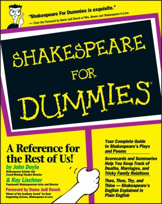Shakespeare for Dummies 9780764551352