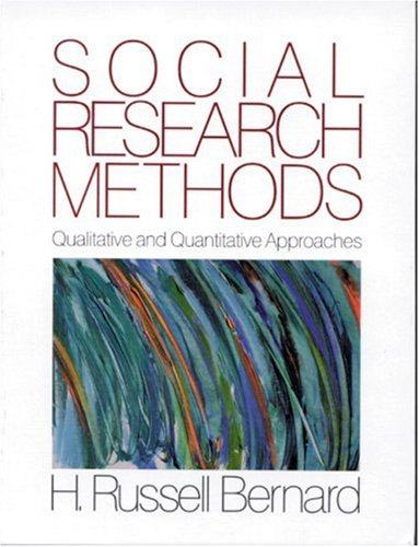 Social Research Methods: Qualitative and Quantitative Approaches 9780761914037