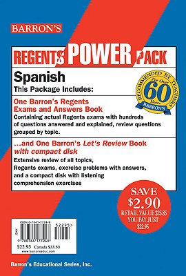 Spanish Regents Power Pack [With Compact Disc] 9780764177248