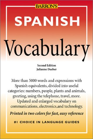 Spanish Vocabulary Spanish Vocabulary 9780764119859