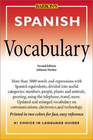 Spanish Vocabulary Spanish Vocabulary