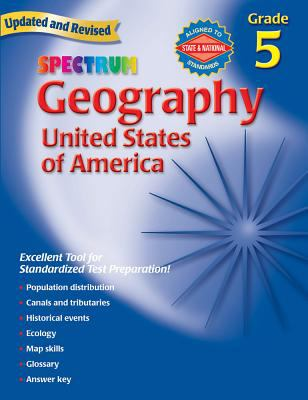 Spectrum Geography, Grade 5: United States of America 9780769687254