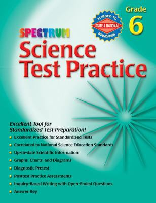 Spectrum Science Test Practice: Grade 6 9780769680668