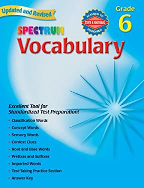 Spectrum Vocabulary, Grade 6 9780769680866