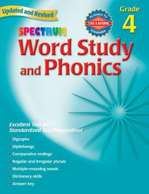 Spectrum Word Study and Phonics, Grade 4 9780769682945