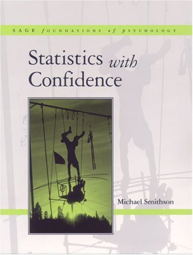 Statistics with Confidence: An Introduction for Psychologists 9780761960317