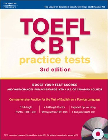 TOEFL CBT Practice Tests [With 2 CDROMs] 9780768912210