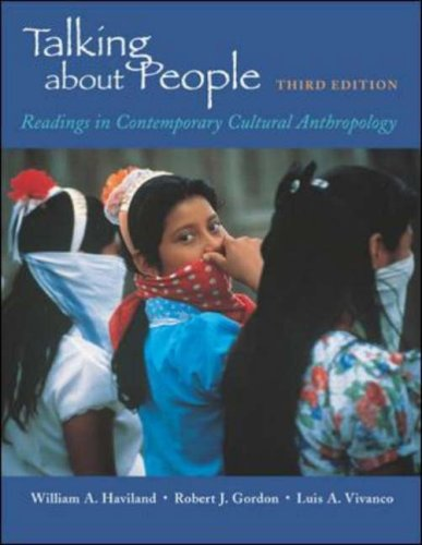 Talking about People: Readings in Cultural Anthropology 9780767405133